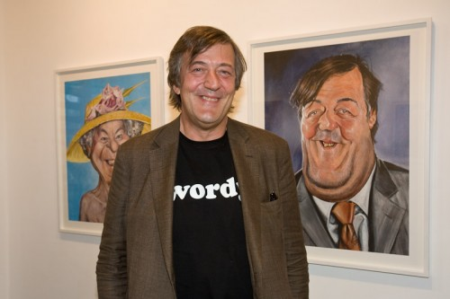 Stephen Fry at Derren Brown private view