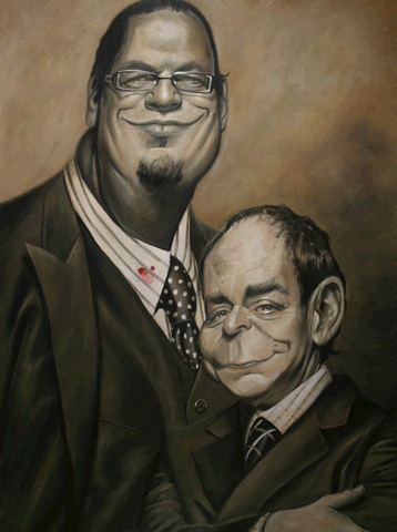 Penn & Teller, by Derren Brown
