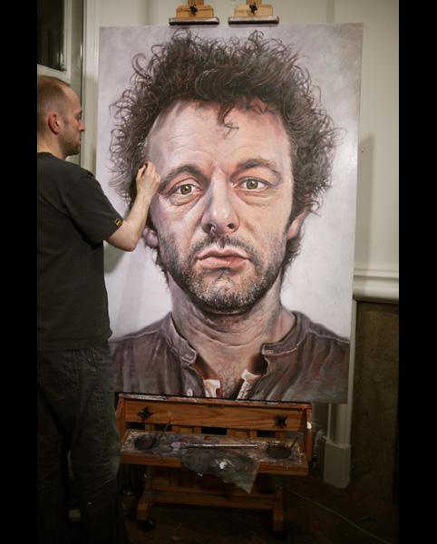 'Michael Sheen' acrylic on canvas 2011 1