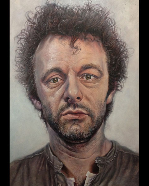 'Michael Sheen' acrylic on canvas 2011 2