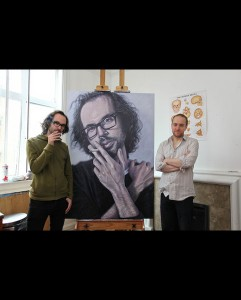 'James Rhodes' acrylic on canvas 2011 2