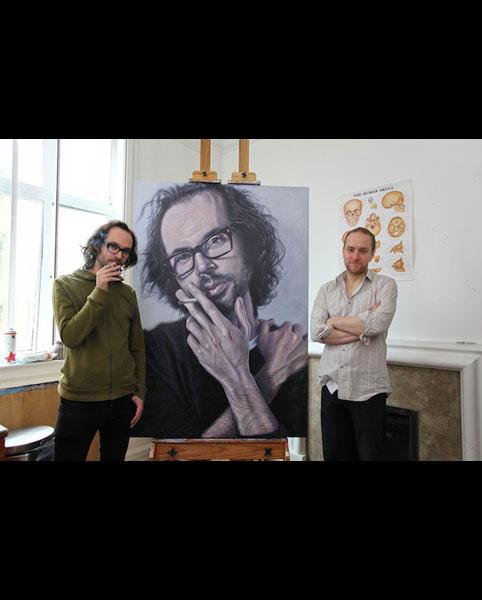 'James Rhodes' acrylic on canvas 2011 2