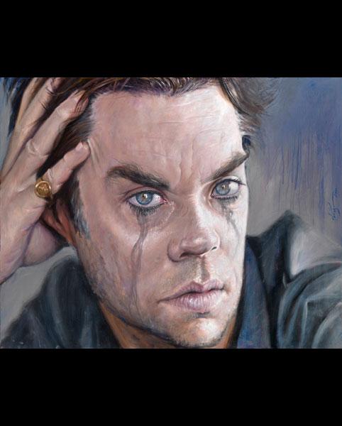 'Rufus Wainwright' acrylic on canvas 2010 1