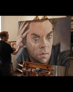 'Rufus Wainwright' acrylic on canvas 2010 2