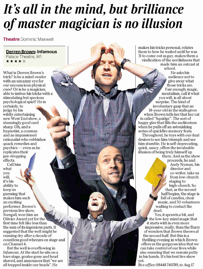 The Times Review of DERREN BROWN: INFAMOUS