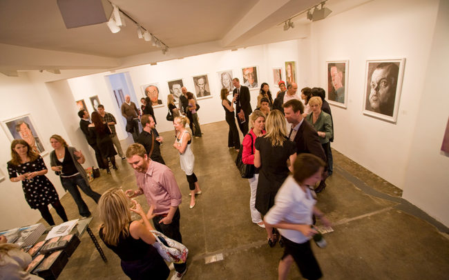 Derren Brown exhibition launch at the Rebecca Hossack Gallery