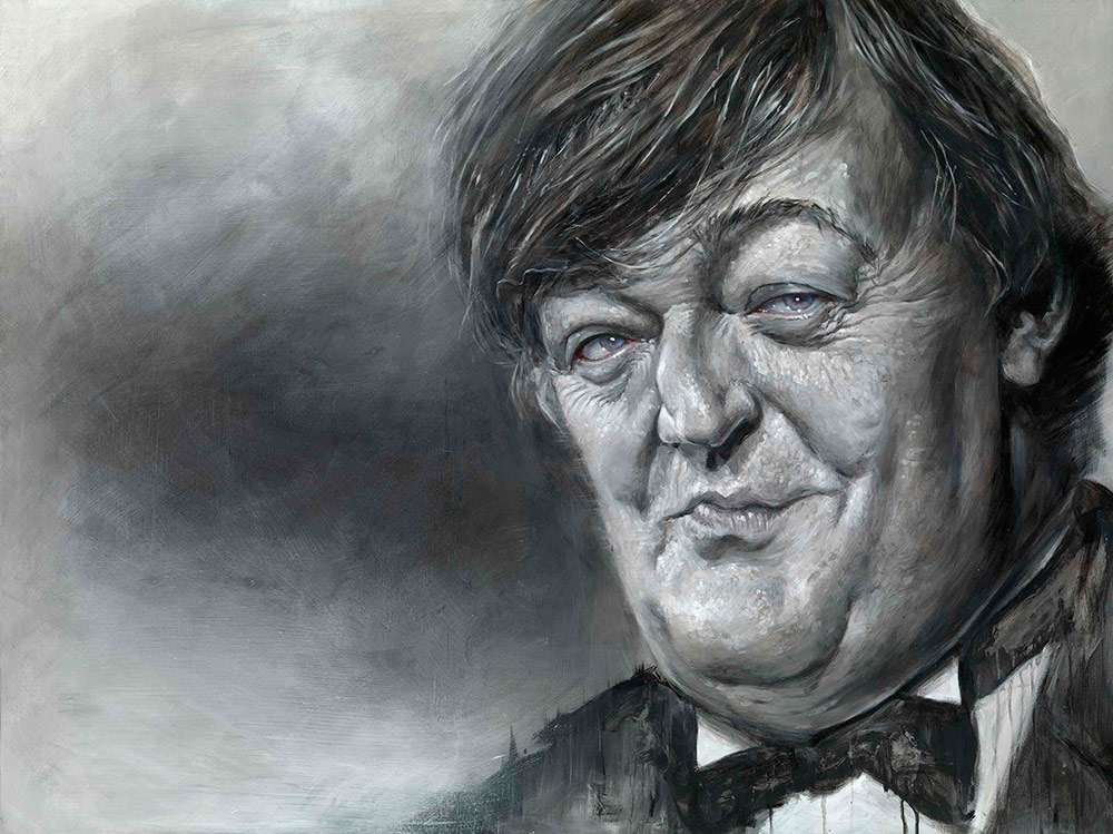 Derren Brown portrait of Stephen Fry