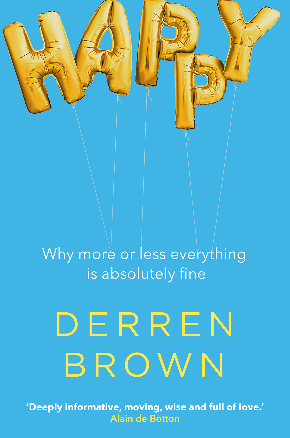 Cover of the hardback edition of 'Happy' by Derren Brown