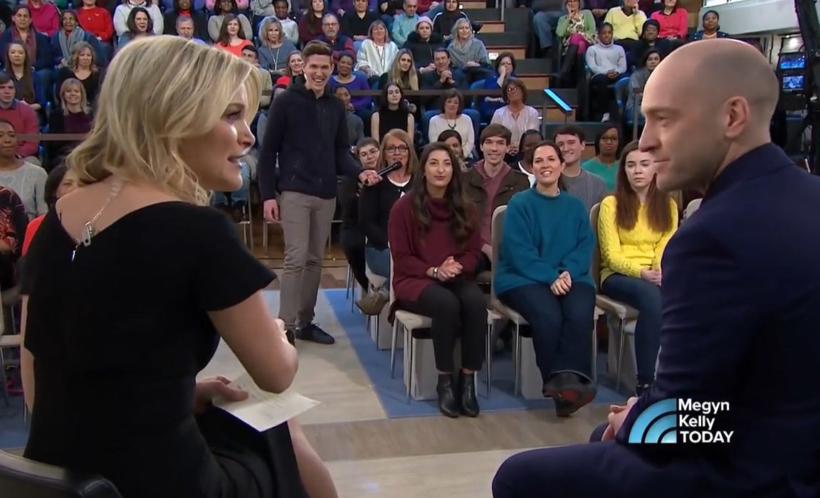 Derren Brown with Megyn Kelly on the Today show
