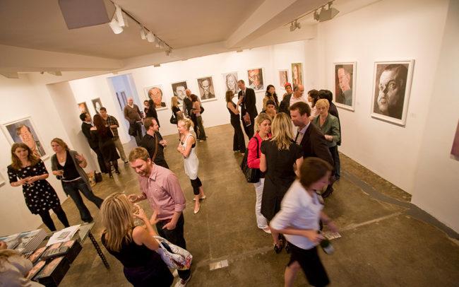 Derren Brown exhibition launch at the Rebecca Hossack Gallery