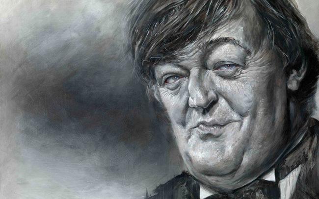 Derren Brown portrait of Stephen Fry