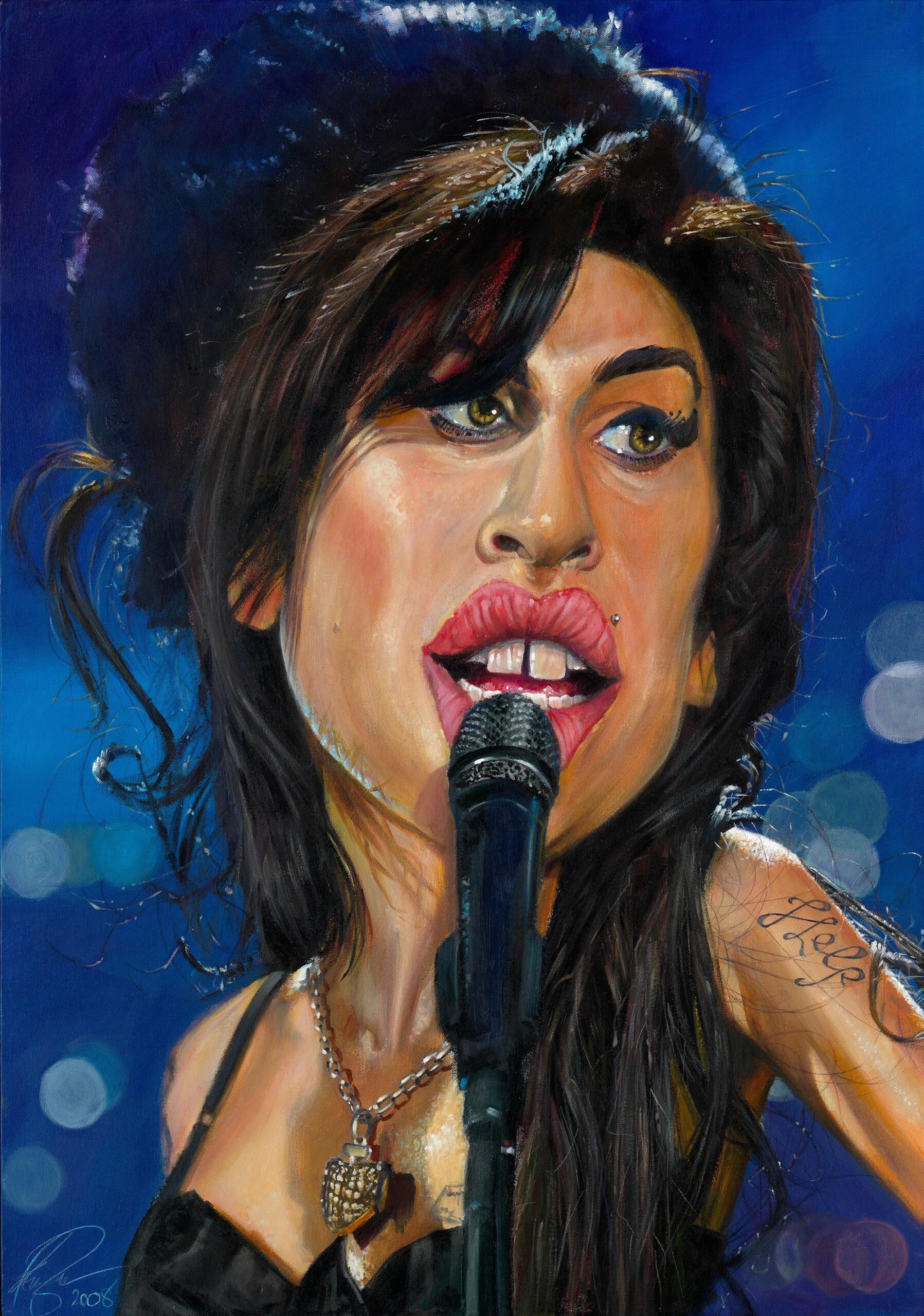 Amy Winehouse portrait by Derren Brown