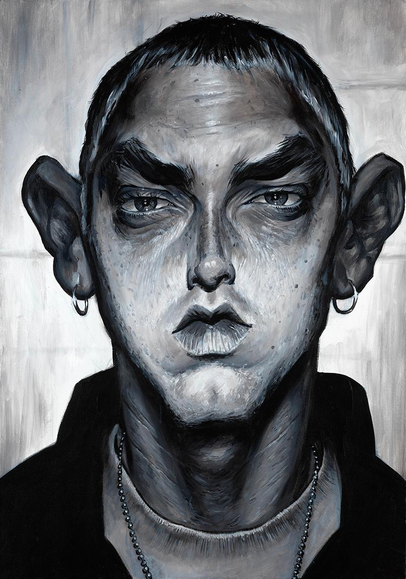 Eminem portrait by Derren Brown