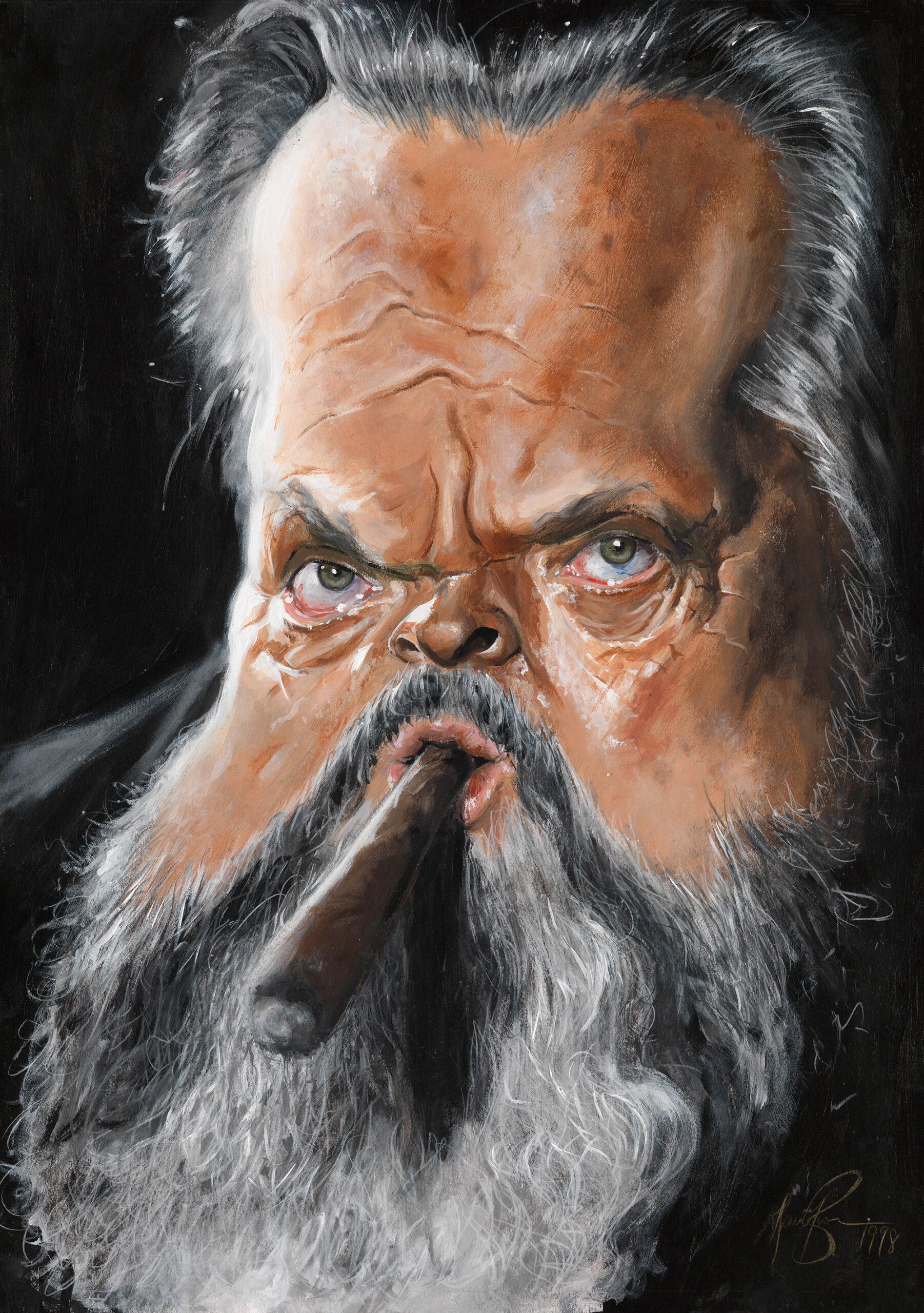 Orson Wells portrait by Derren Brown –as seen in 'Mind Control'
