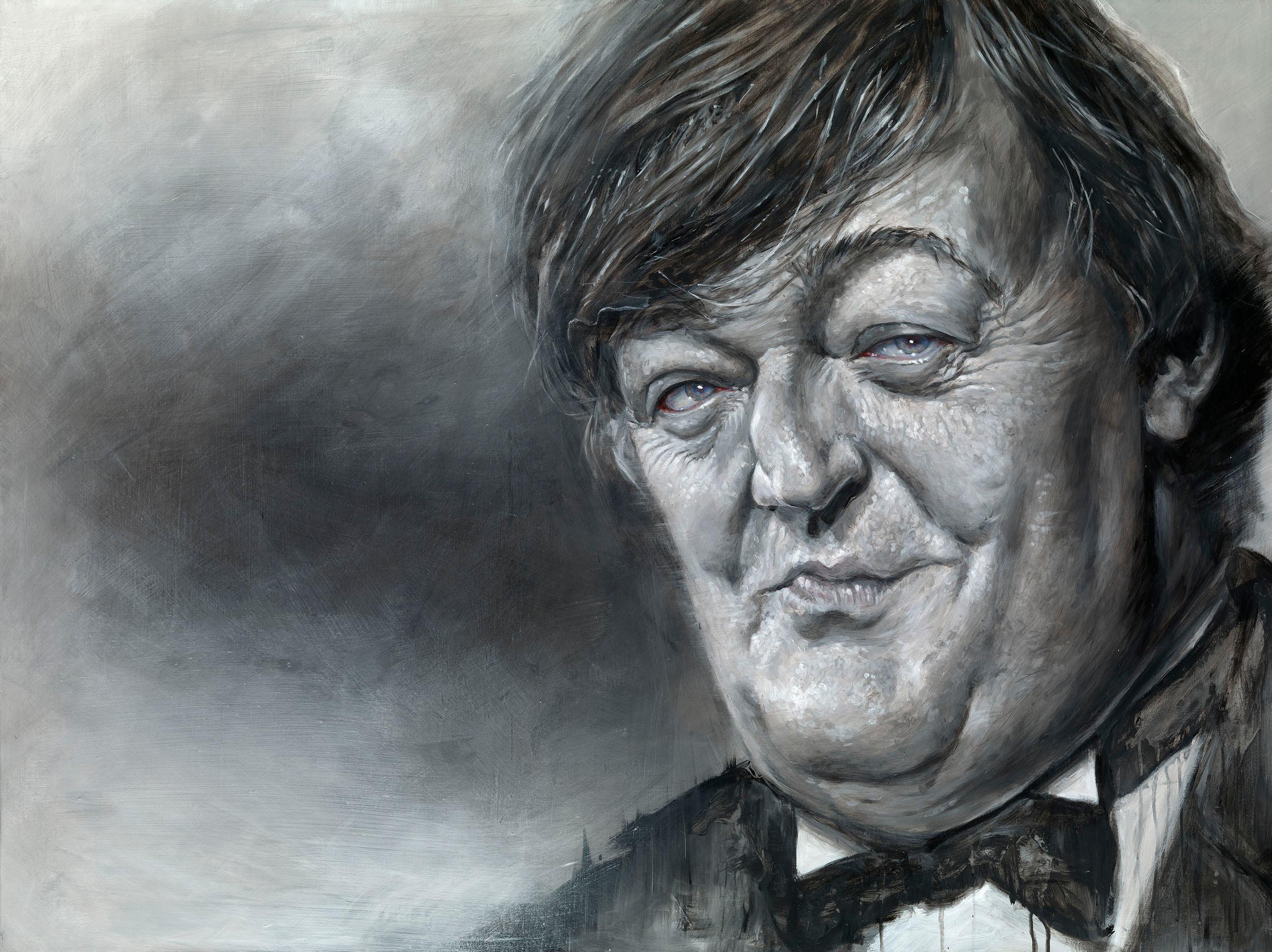 Stephen Fry portrait by Derren Brown