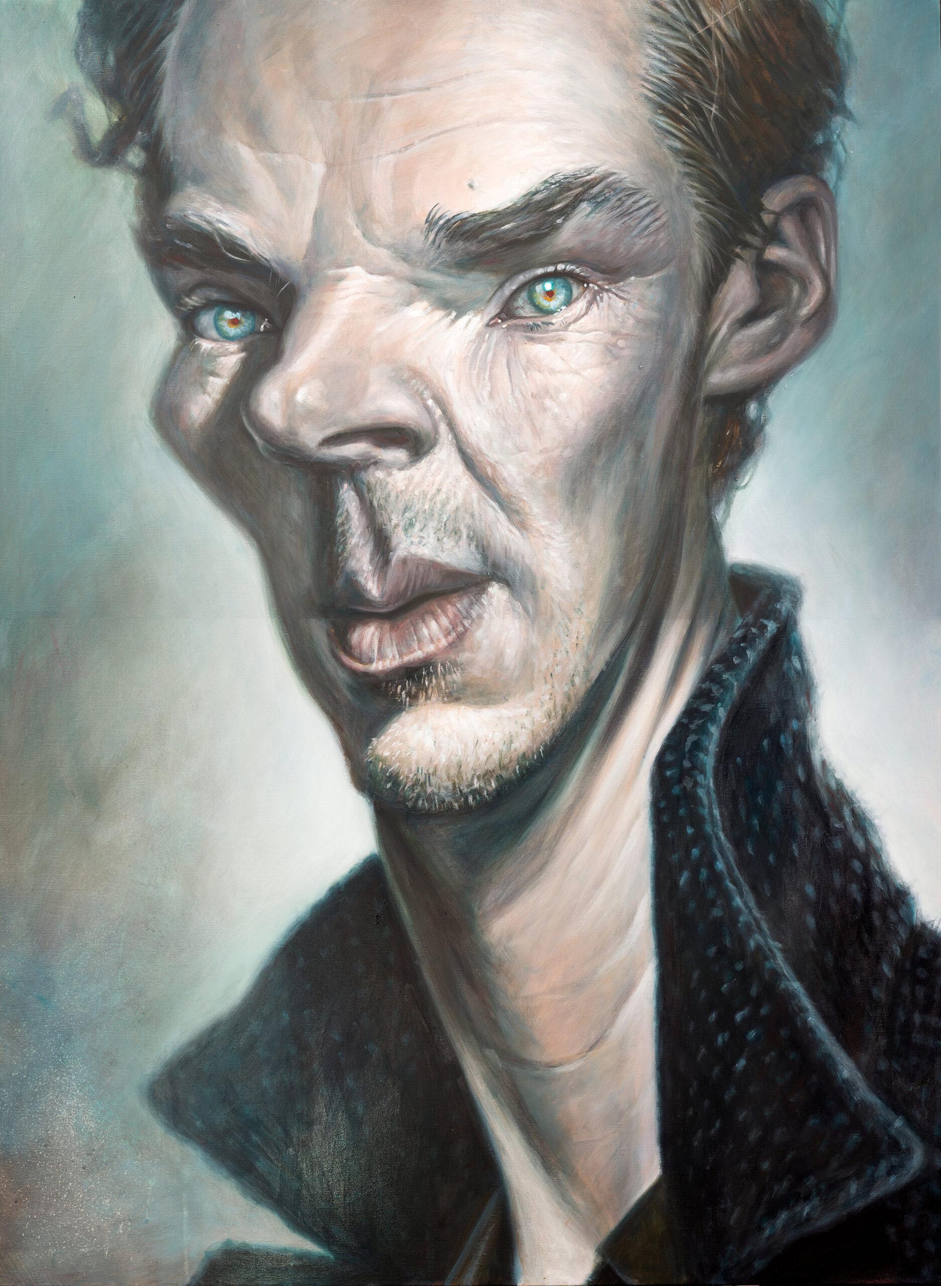 Benedict Cumberbatch portrait by Derren Brown