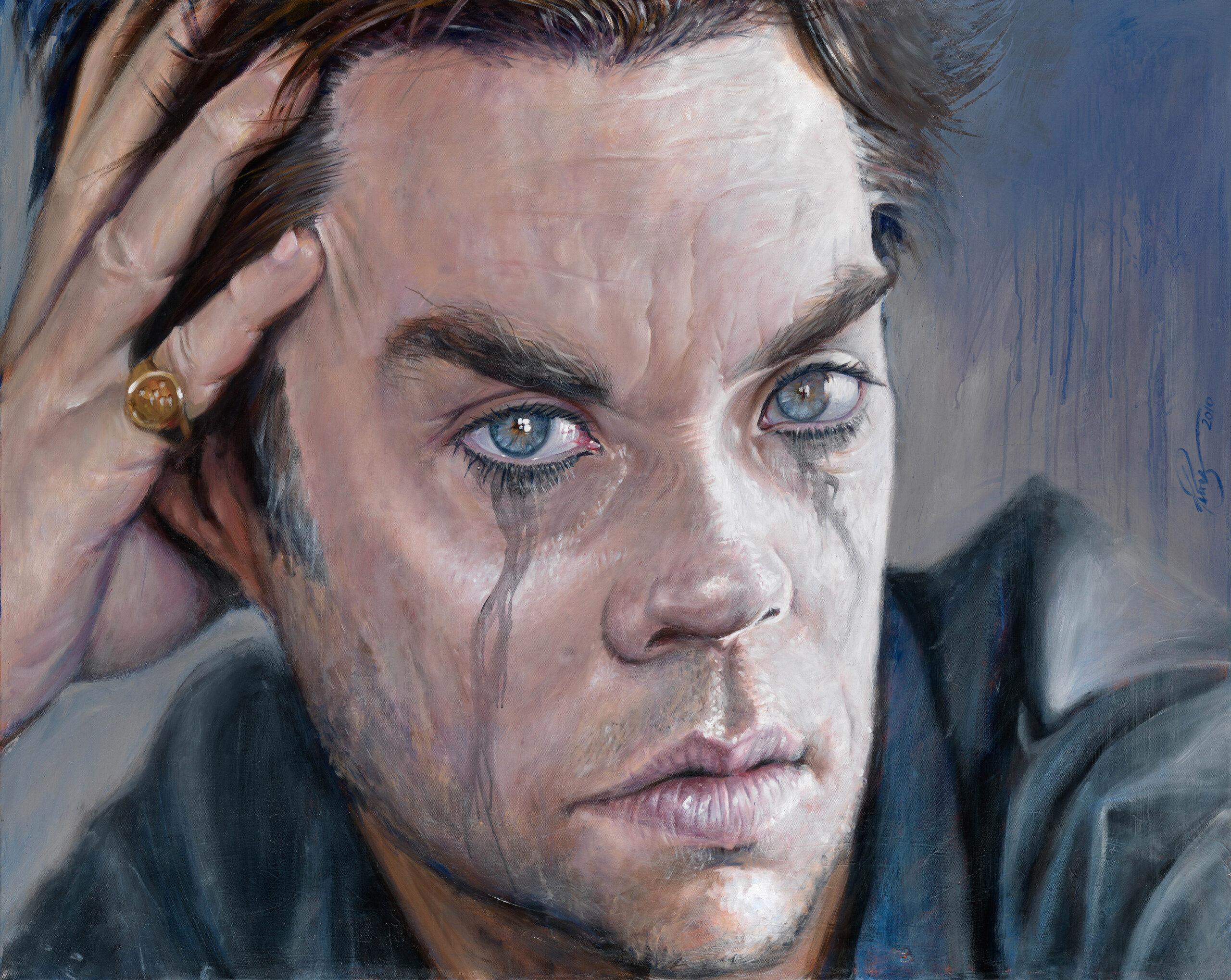 Rufus Wainwright portrait by Derren Brown