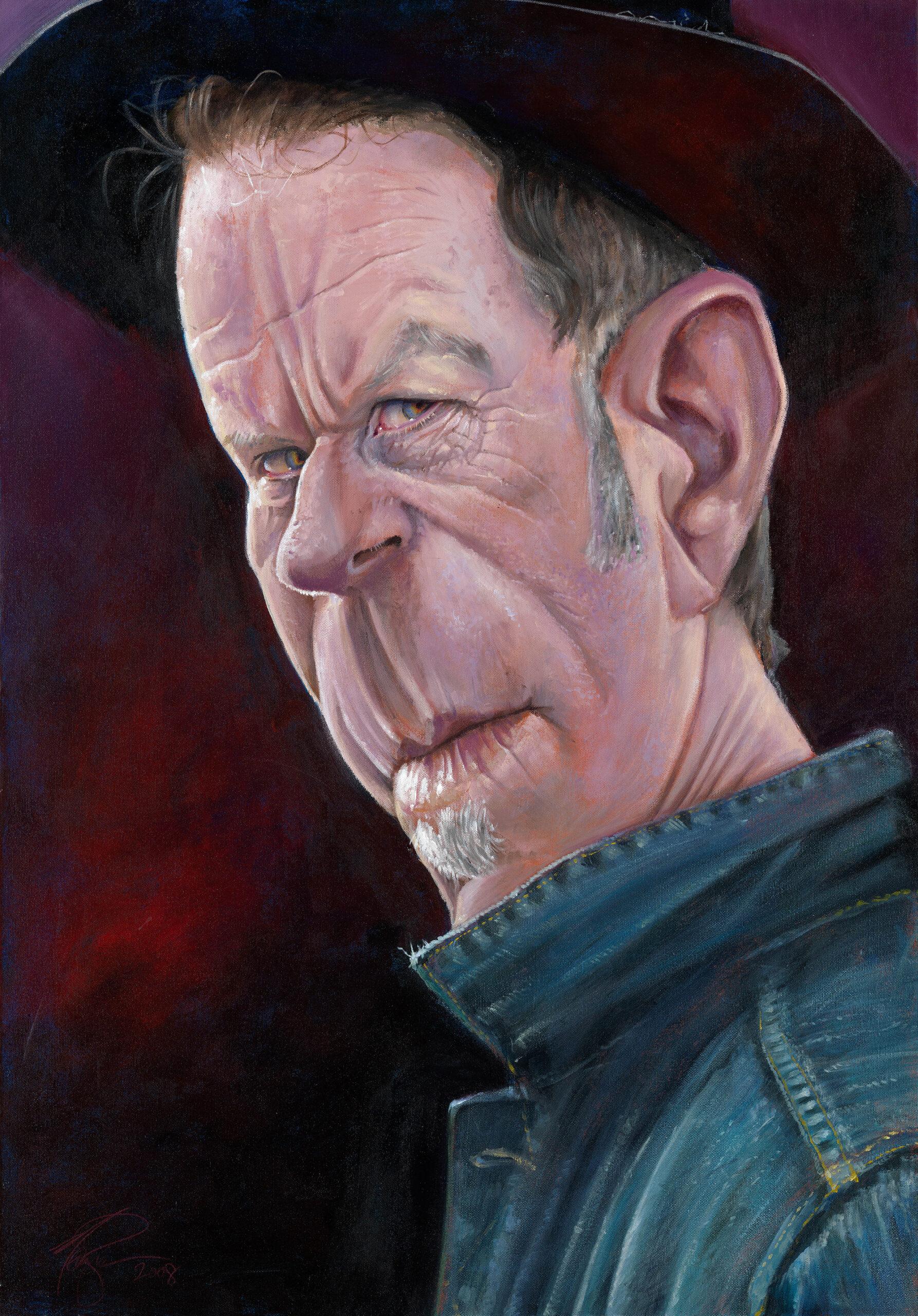 Tom Waits portrait by Derren Brown