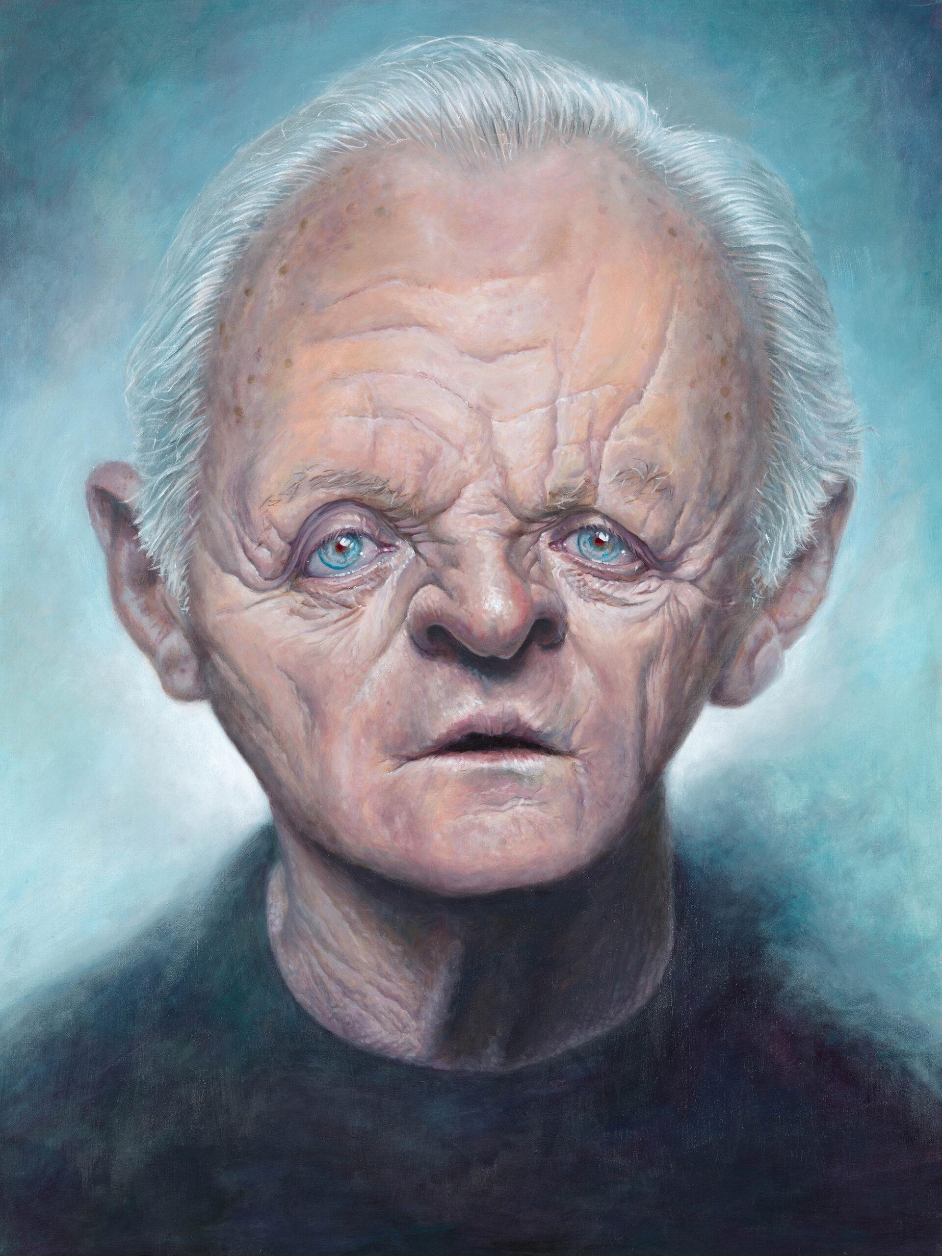 Anthony Hopkins portrait by Derren Brown