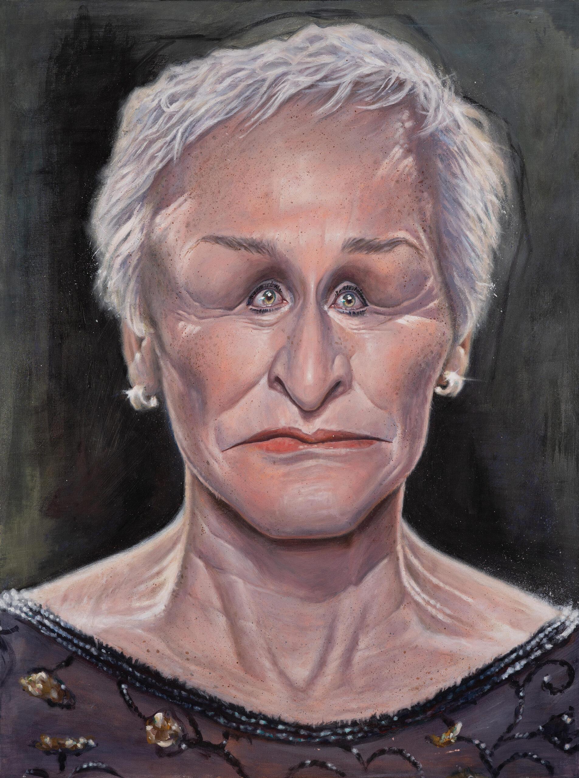 Glenn Close portrait by Derren Brown