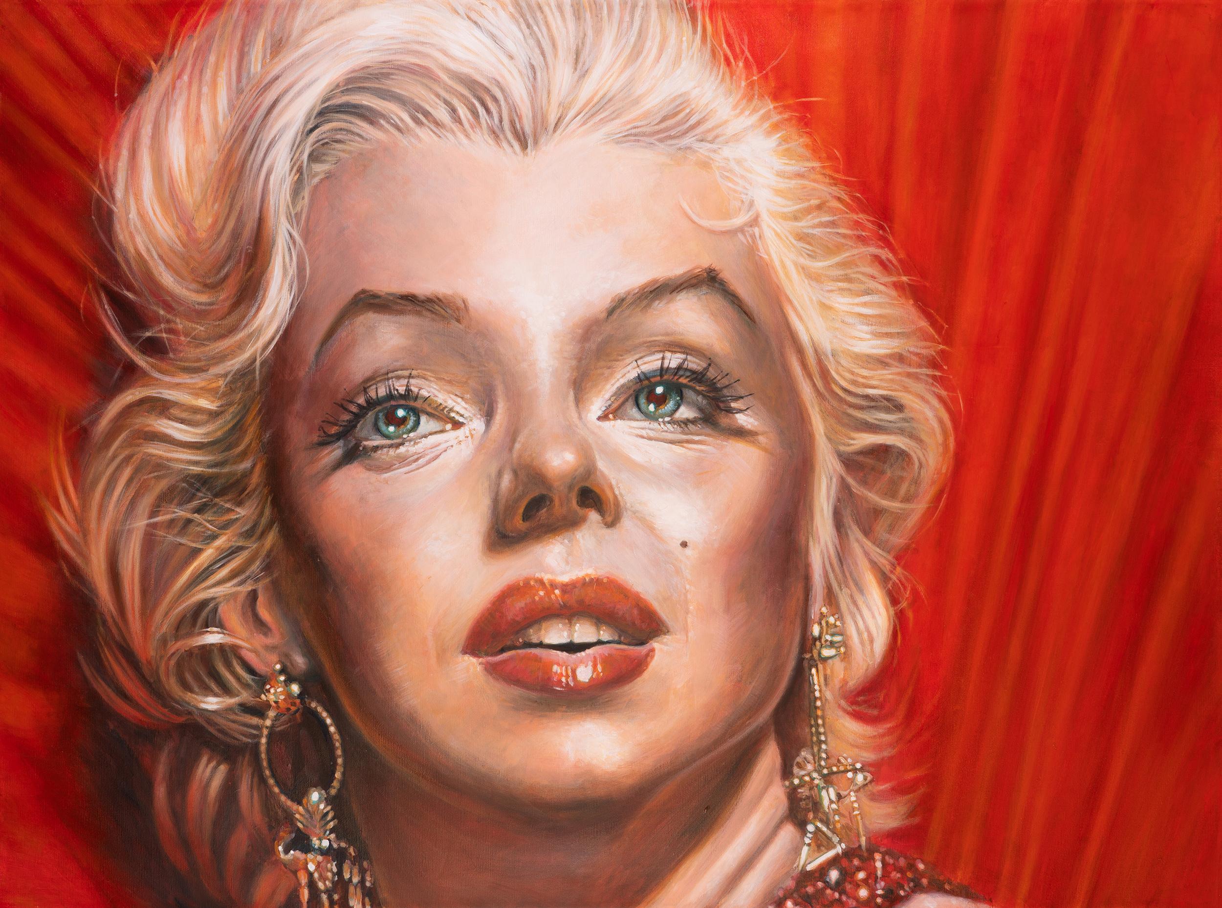 Marilyn Monroe portrait by Derren Brown