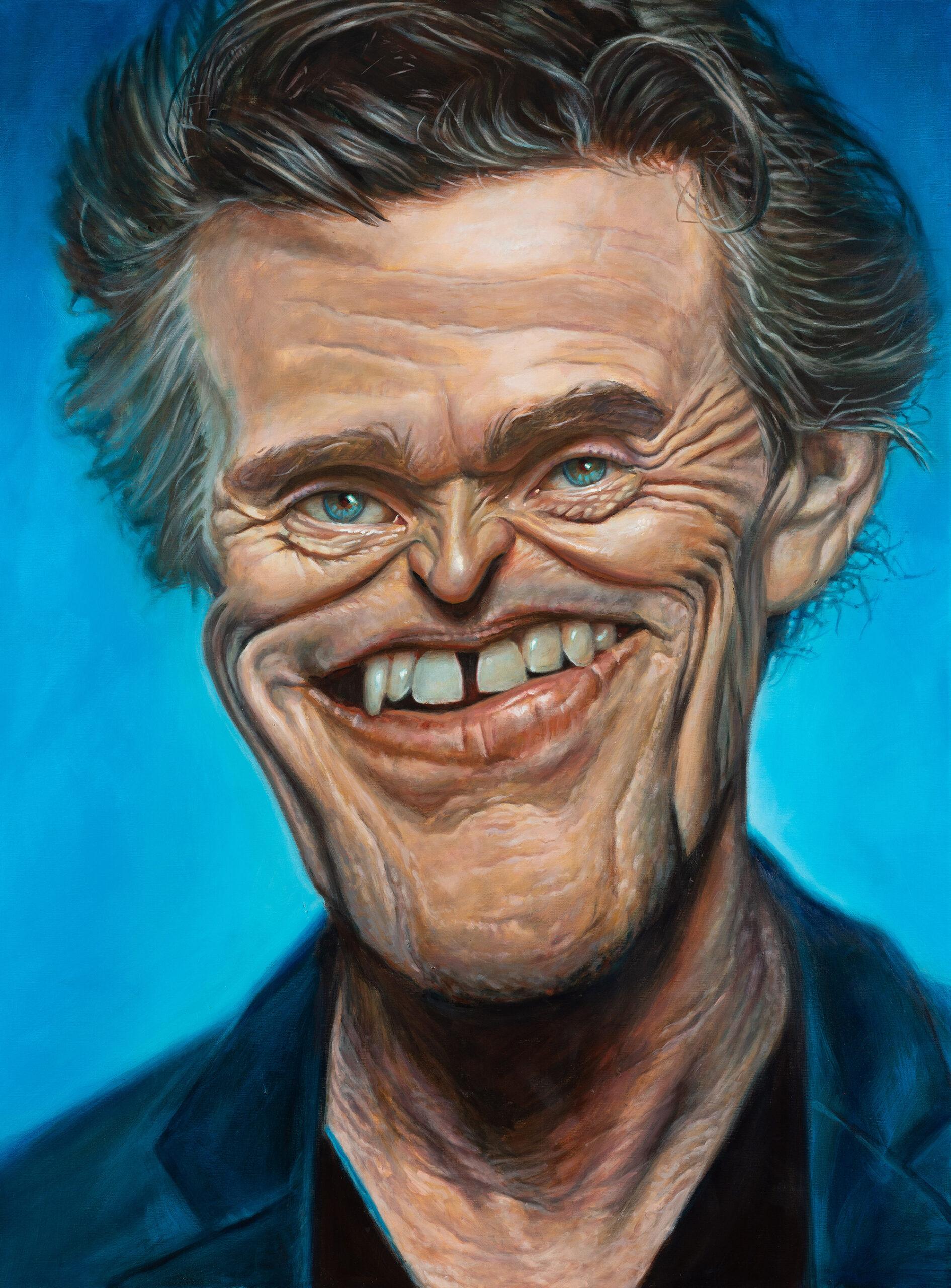Willem Dafoe portrait by Derren Brown