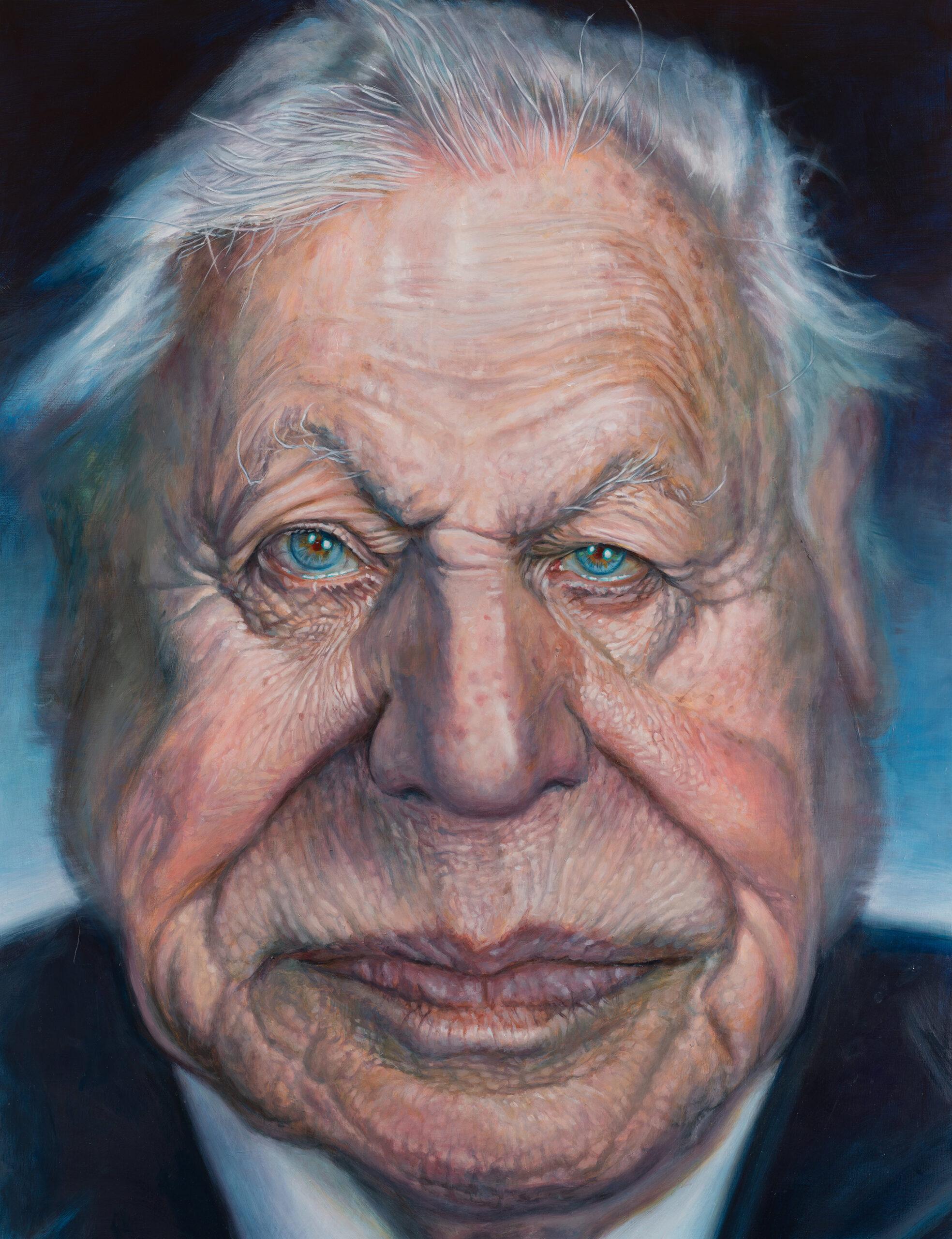 David Attenborough portrait by Derren Brown