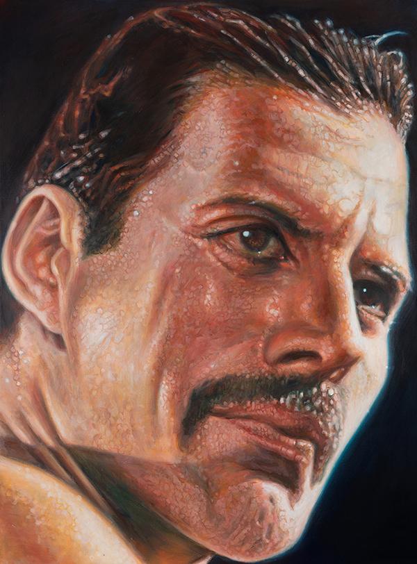 Freddie Mercury portrait by Derren Brown