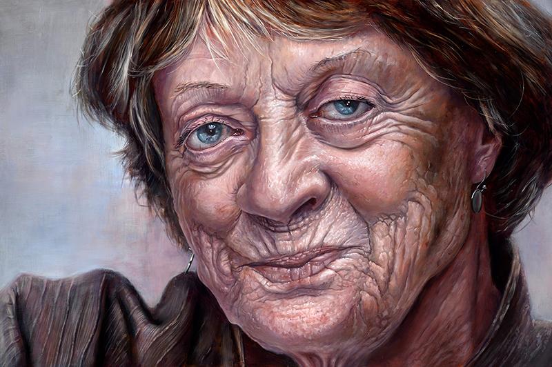 Maggie Smith portrait by Derren Brown