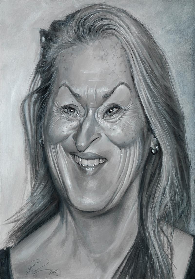 Meryl Streep portrait by Derren Brown