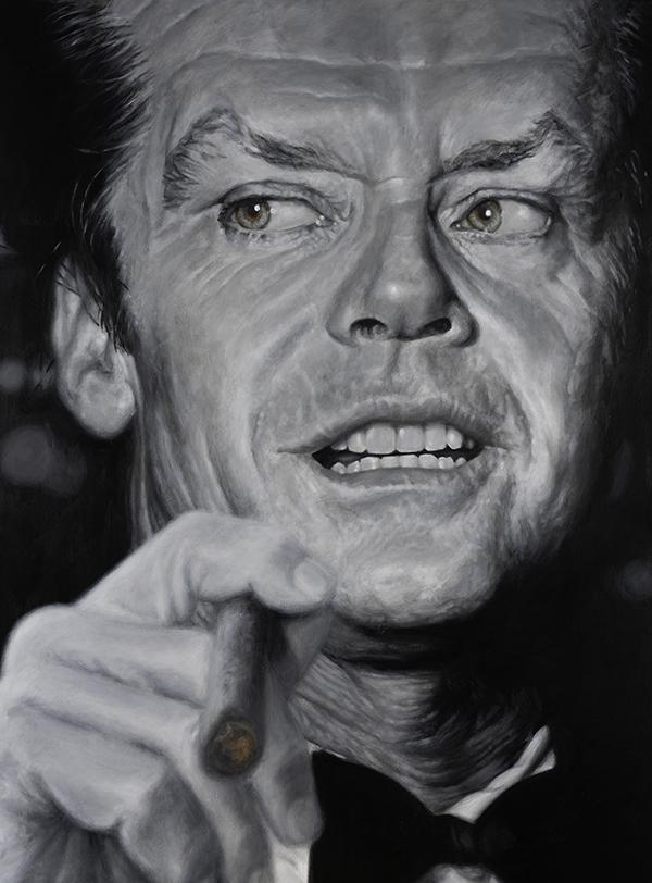 Jack Nicholson portrait by Derren Brown