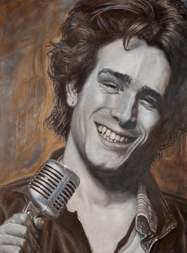Jeff Buckley portrait by Derren Brown