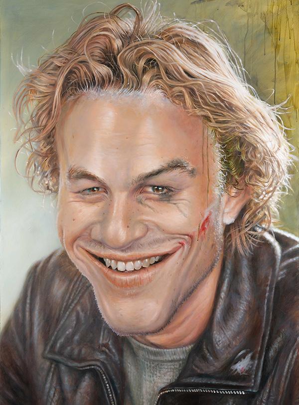 Portrait of Heath Ledger by Derren Brown