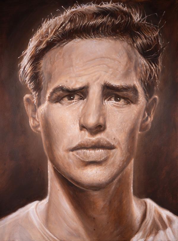 Portrait of Marlon Brando by Derren Brown